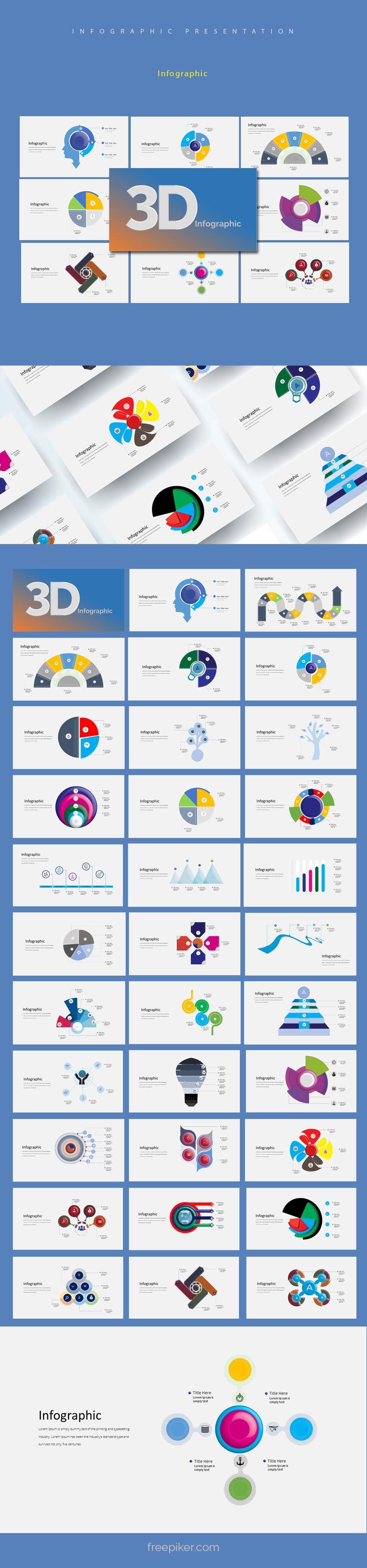 3D Infographic Powerpoint Presentation
