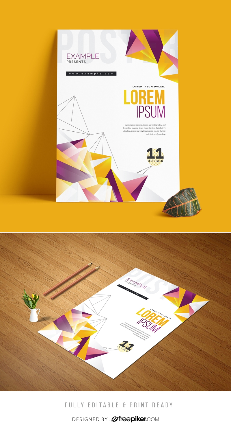 Abstract Colorful Flyer Poster Template