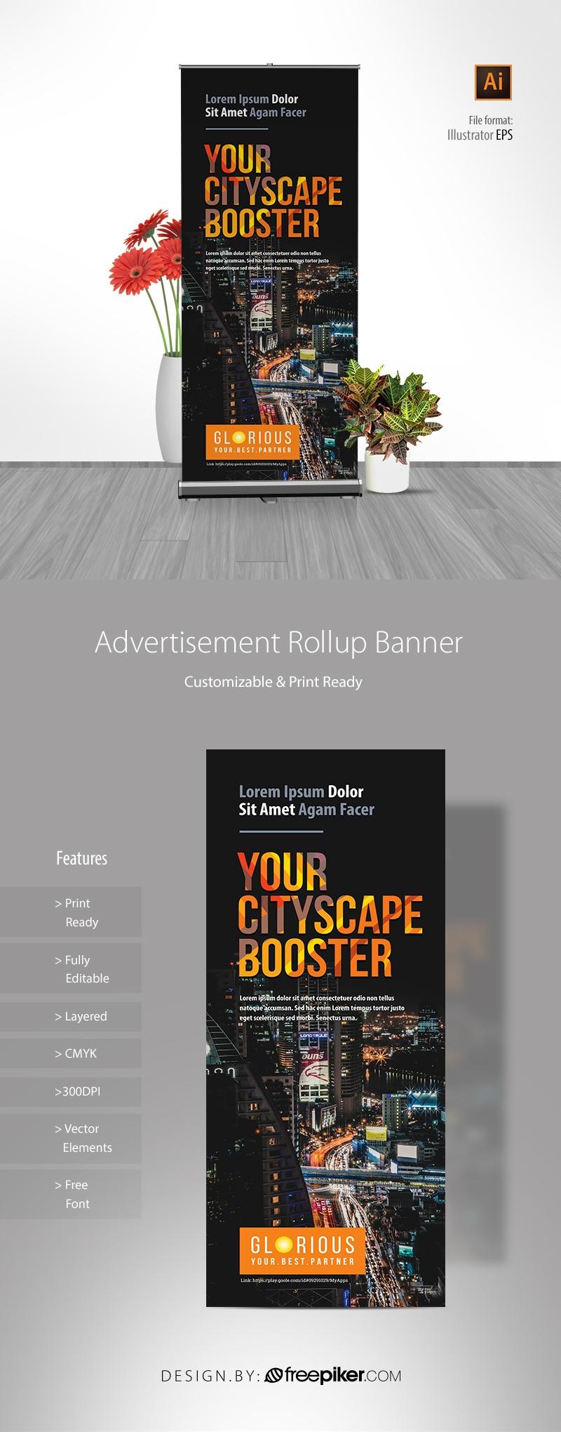 Advertisement Rollup Banner