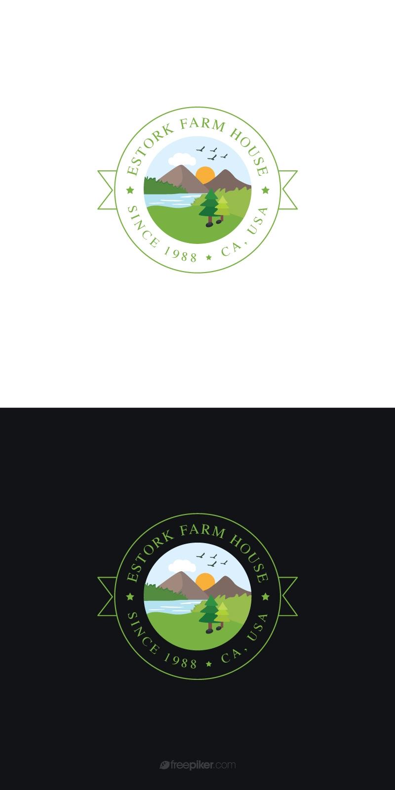 Agriculture & Farmhouse Retro Green Logo