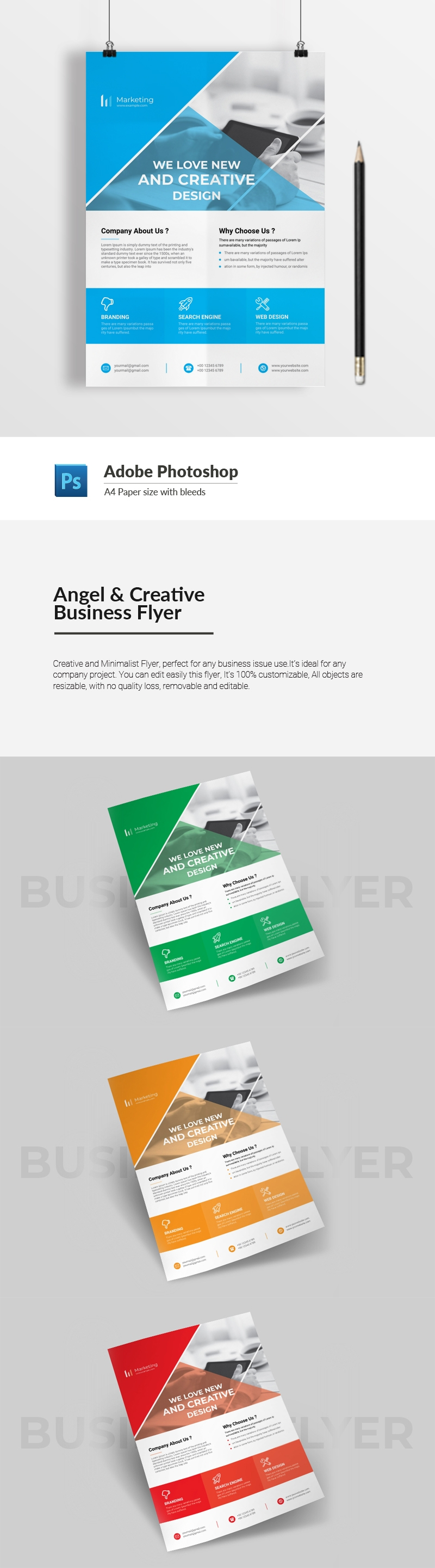 Angel & Creative Business Flyer