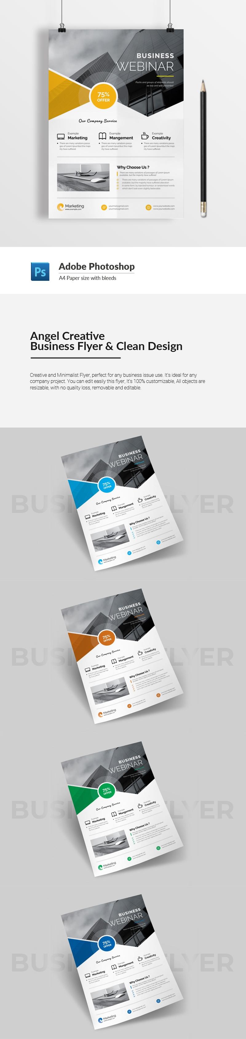 Angel Creative Business Flyer & Clean Design