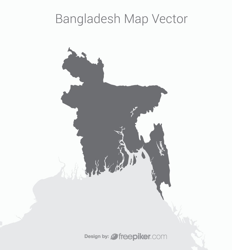 Bangladesh Map With Dark Background