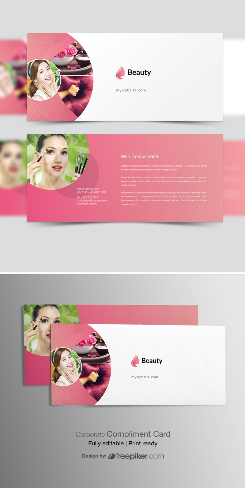 Beauty & Spa Compliment Card