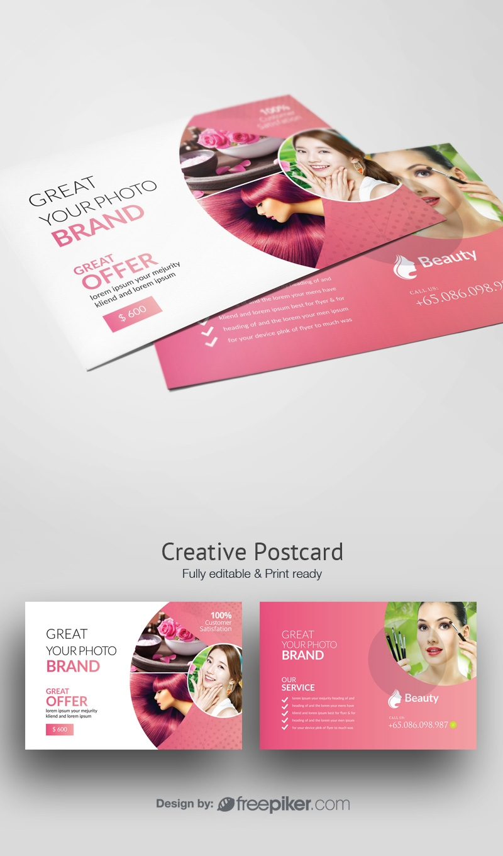 Beauty & Spa PostCard