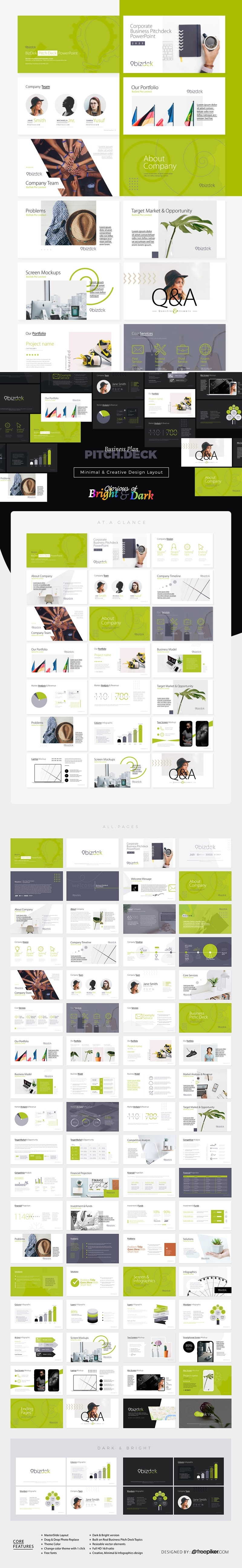 BizDek | Business Plan Pitch Deck Keynote Presentation Template