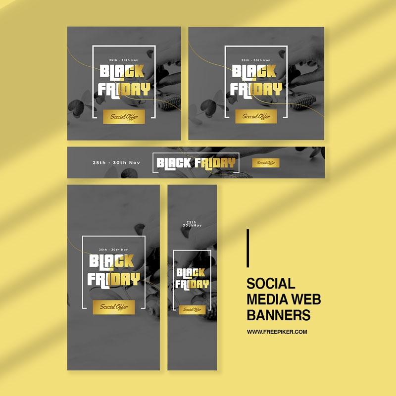 Black Friday Advertisement Web Banner Layout