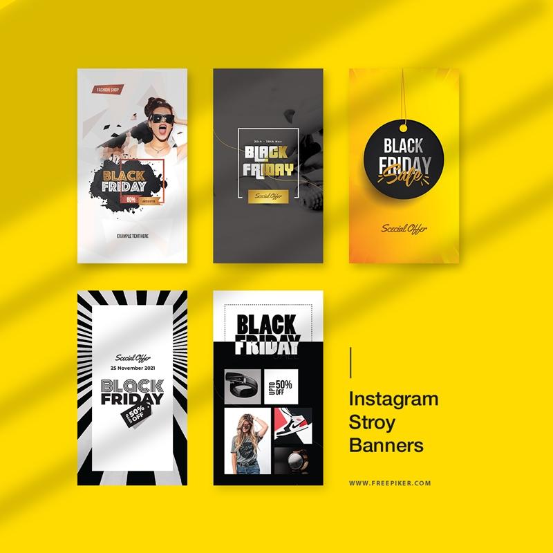 Black Friday Big Sale Promotion Instagram Stroy Banners