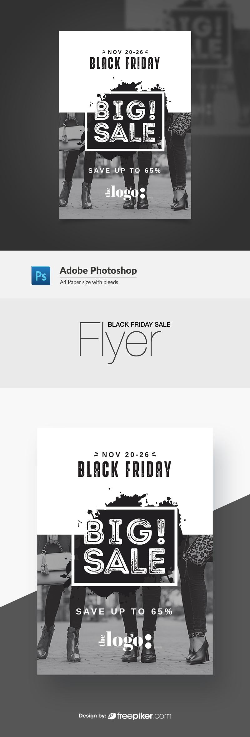 Black Friday Black & White Flyer