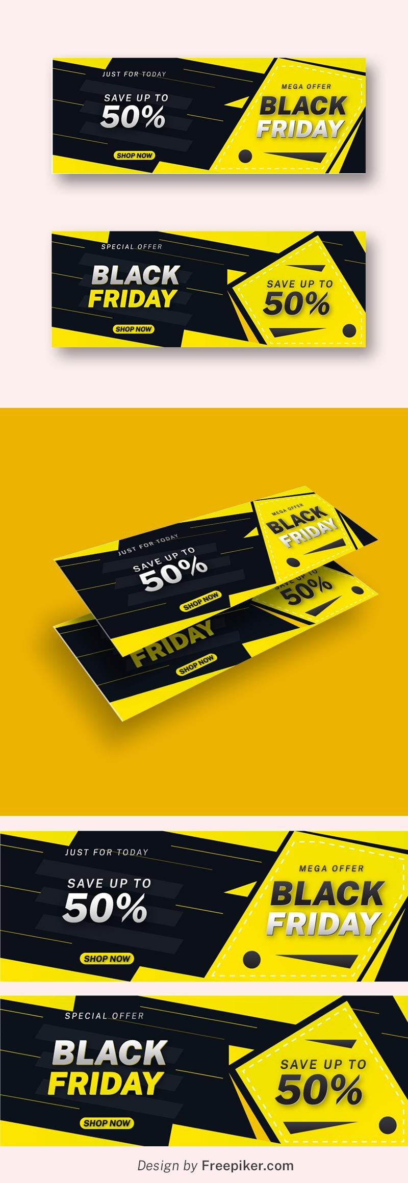 Black Friday Mega Offer Facebook Cover Design