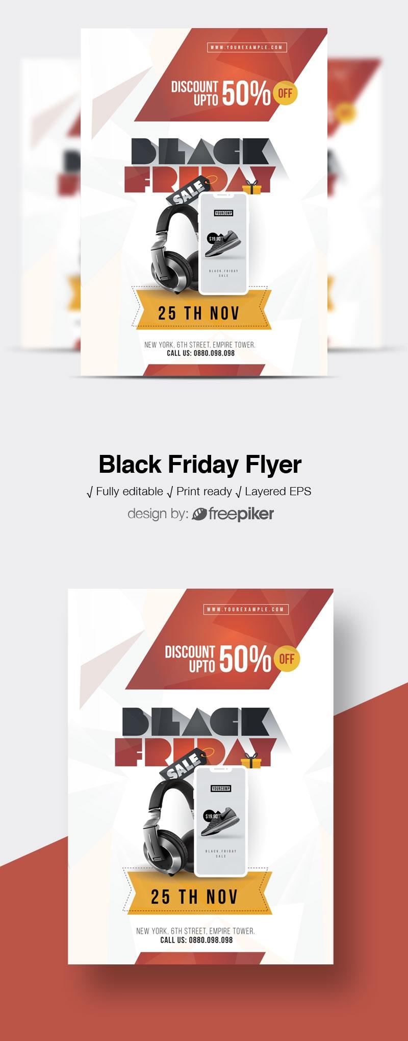 Black Friday Product Big Offier Sale Flyer