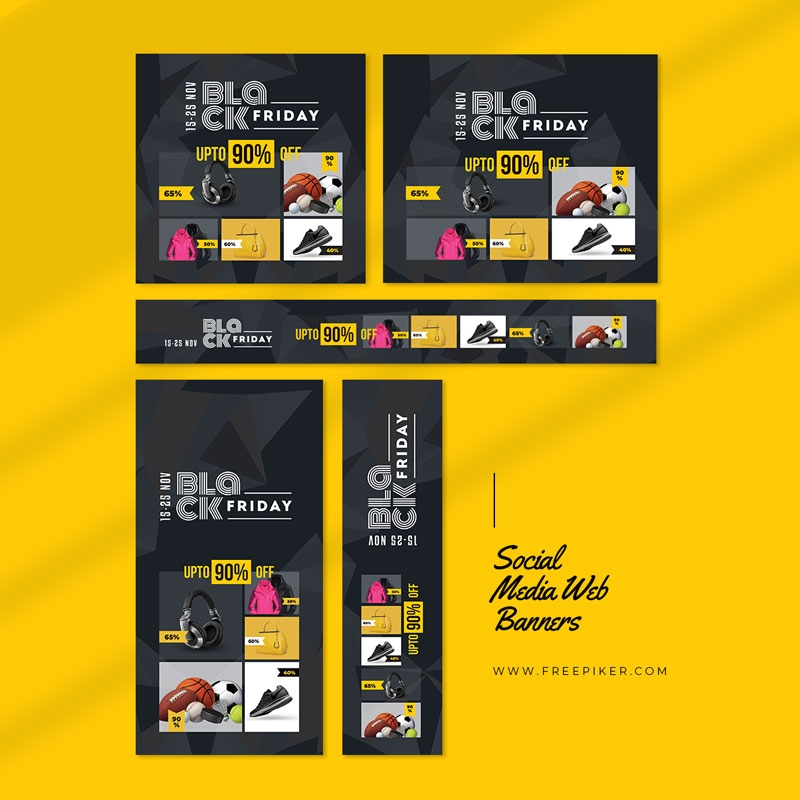 Black Friday Product Promotion Sale Web Banner Layout