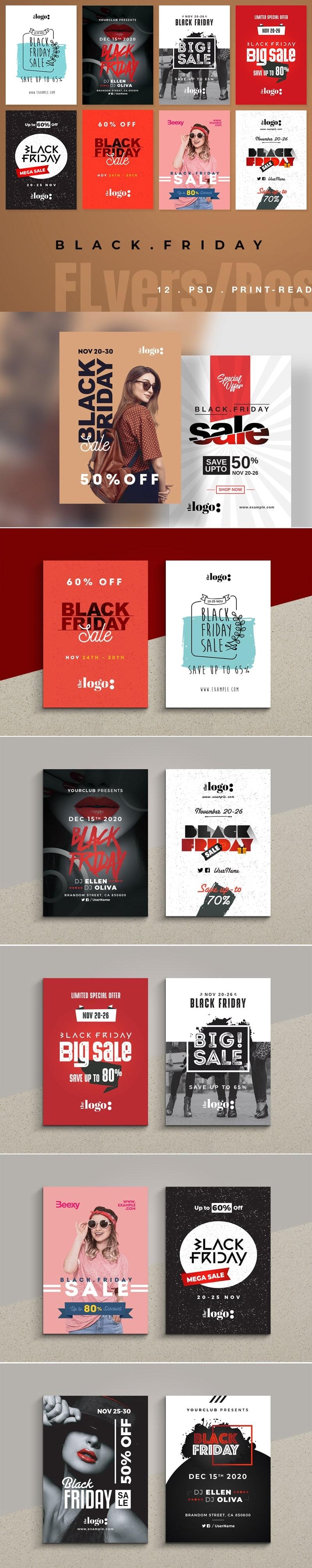 Black Friday Sale Flyer & poster Bundle | Poster 2