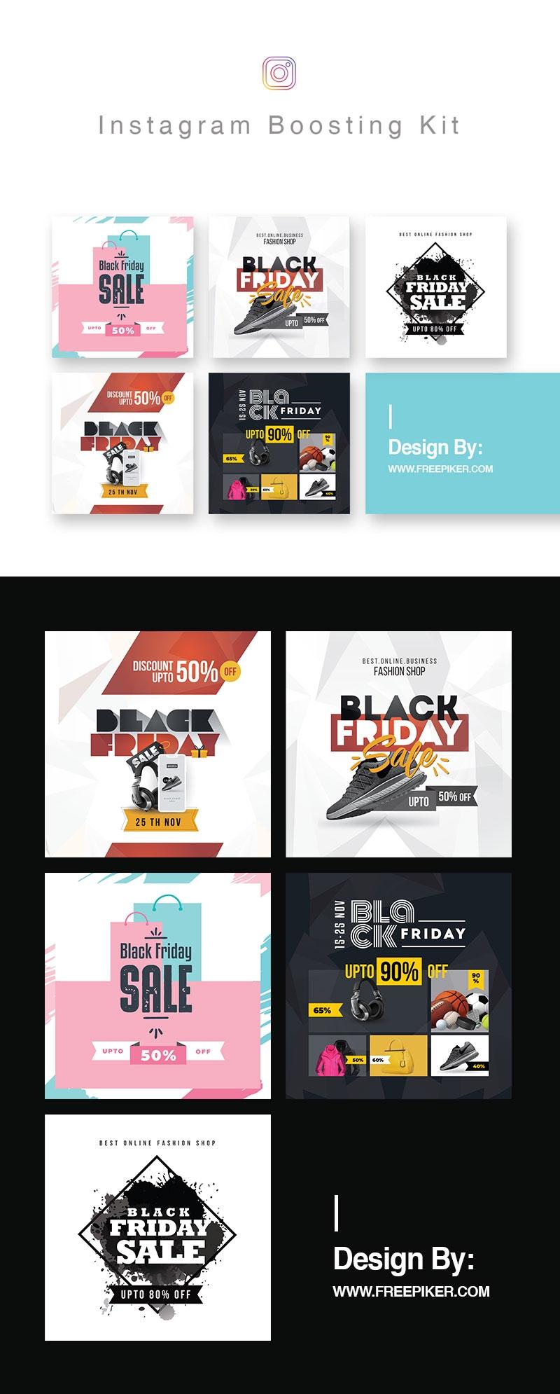 Black Friday Sale Media Instagram Booster Posting Kit