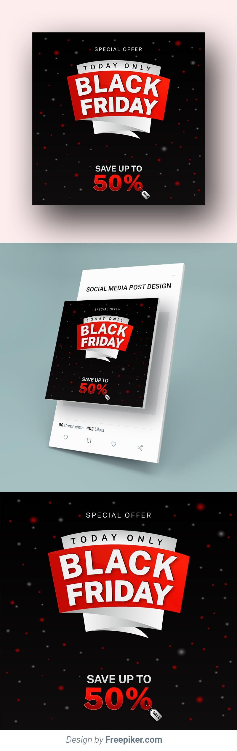 Black Friday Sale Premium Social Media Banner