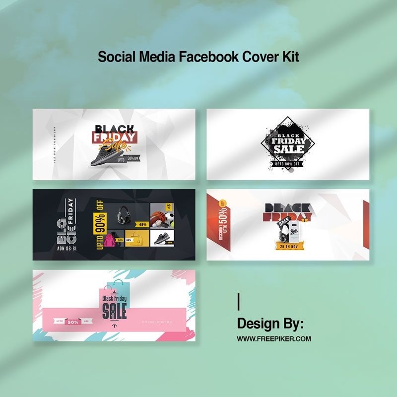Black Friday Social Media Facebook Timeline Cover Kit