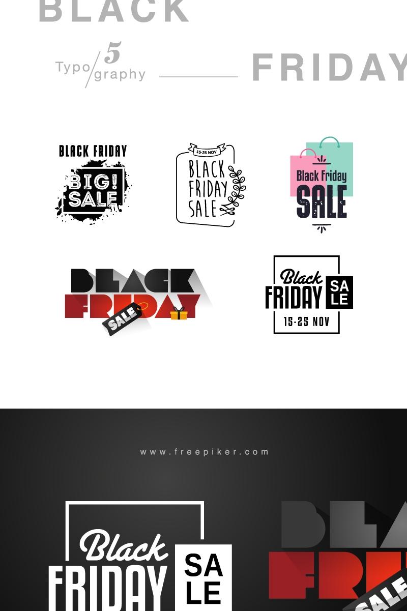 Black Friday Typography