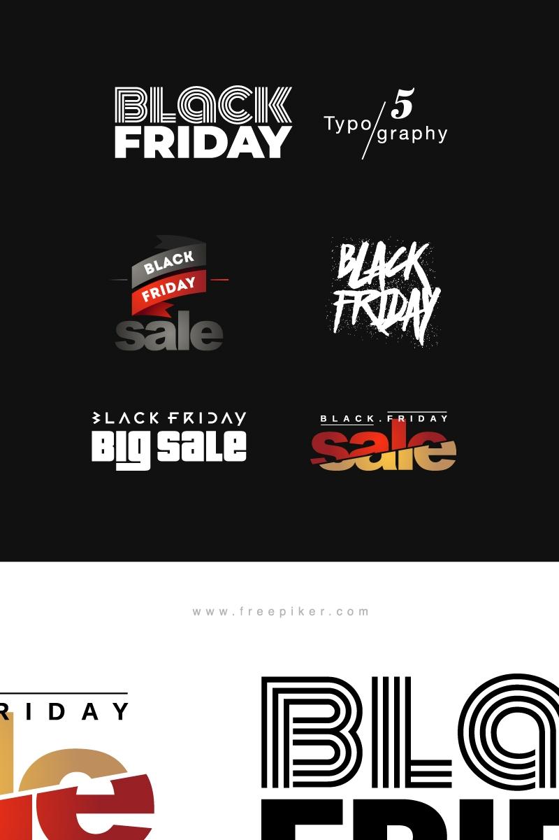 Black Friday Typography Vector