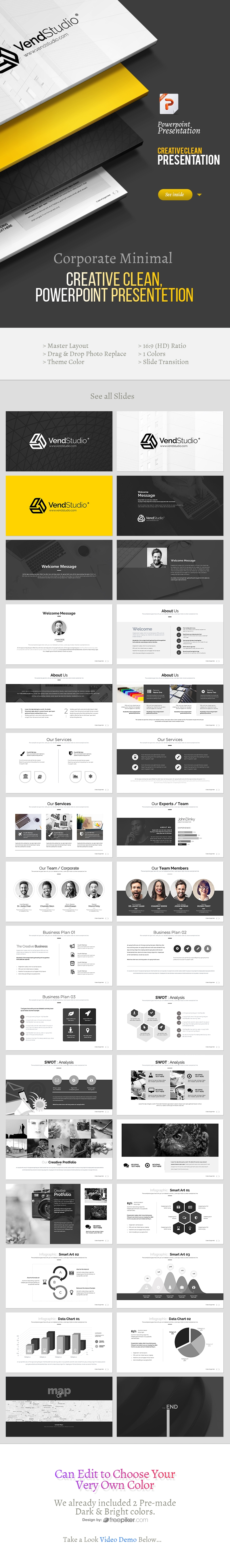 Black White Powerpoint Template