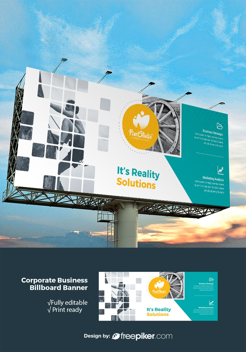 Boxs Style Billboard Banner With Paste Accent