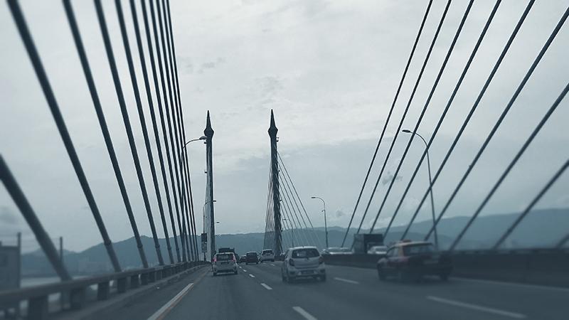 Bridge Architecture at a Winter Day