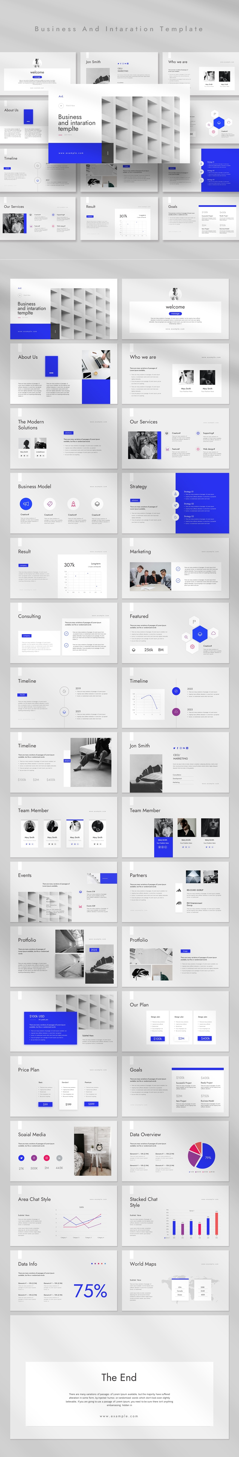 Business And Intaration  Powerpoint Template