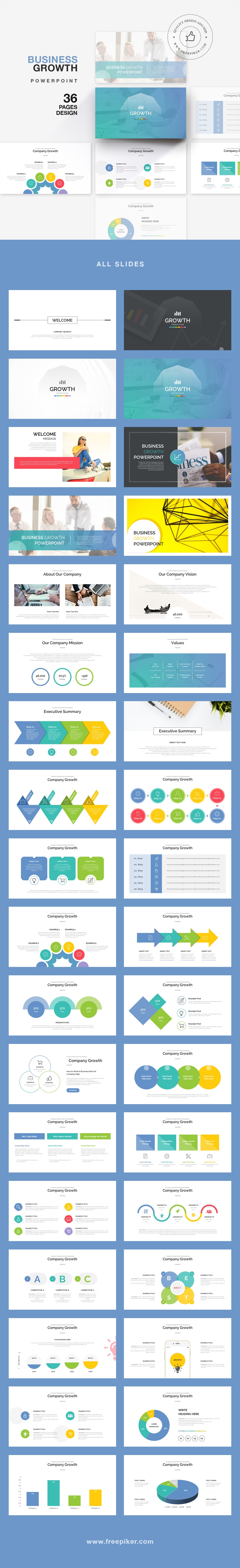 Business Growth Pith Deck PowerPoint