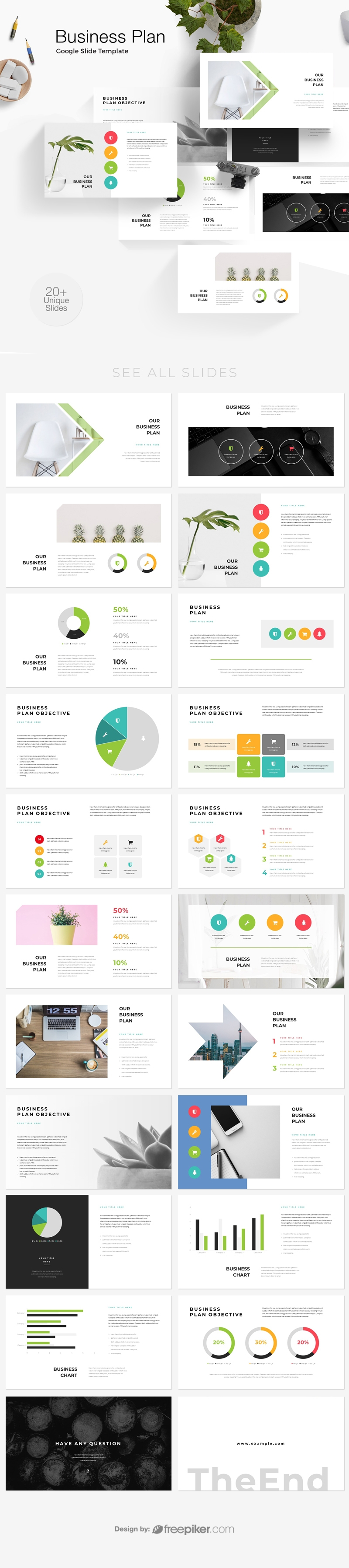 Business Plan & Objectives Google Slide Template