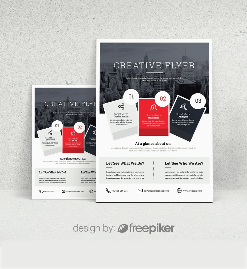 Business Red Boxs Flyer