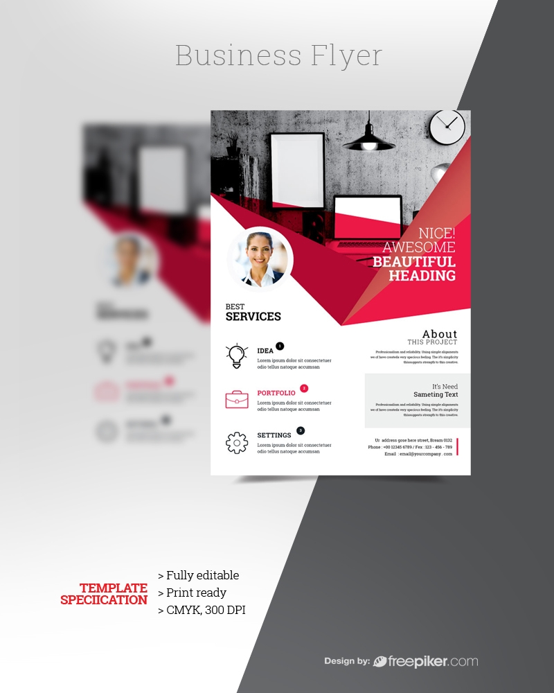 Business Red Flyer Template