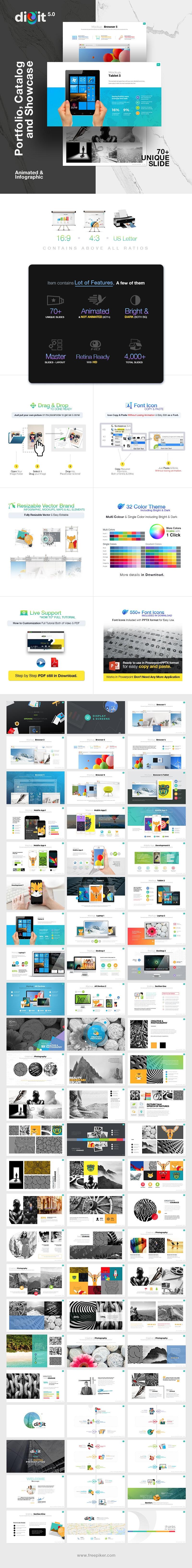 Catalog Portfolio & Showcase Powerpoint   Digit V