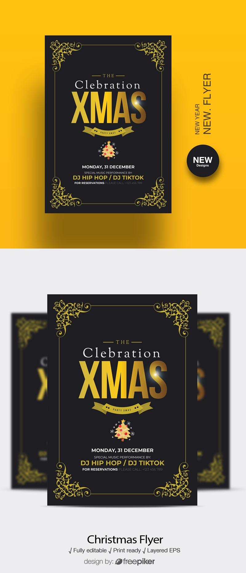 Celebrations Christmas Flyer Template