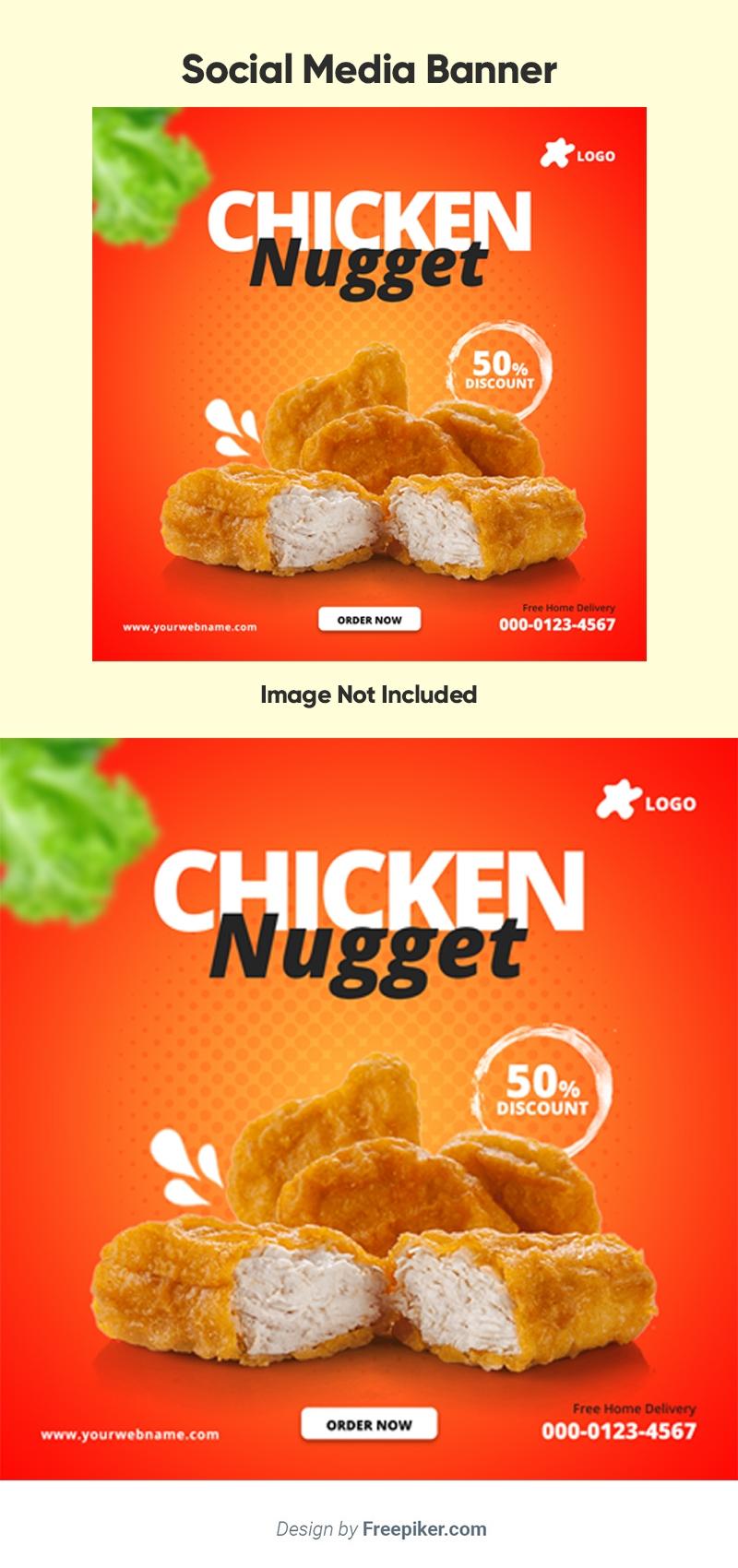Chicken Nugget Social Media Banner Template