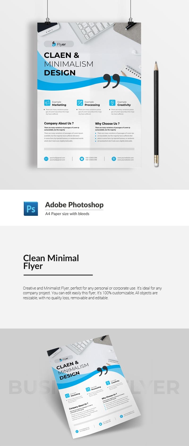 Clean Minimal Flyer