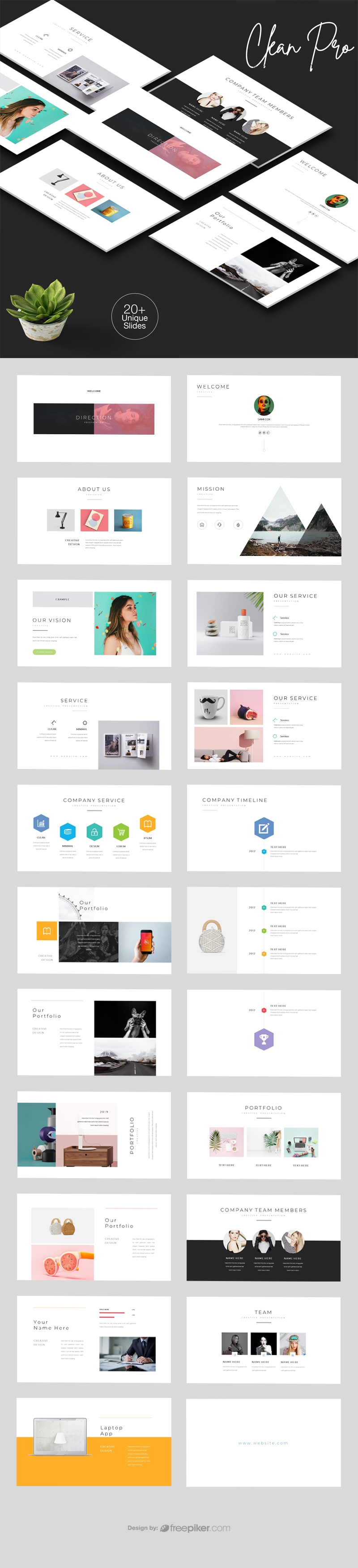 Clean Pro PowerPoint Template