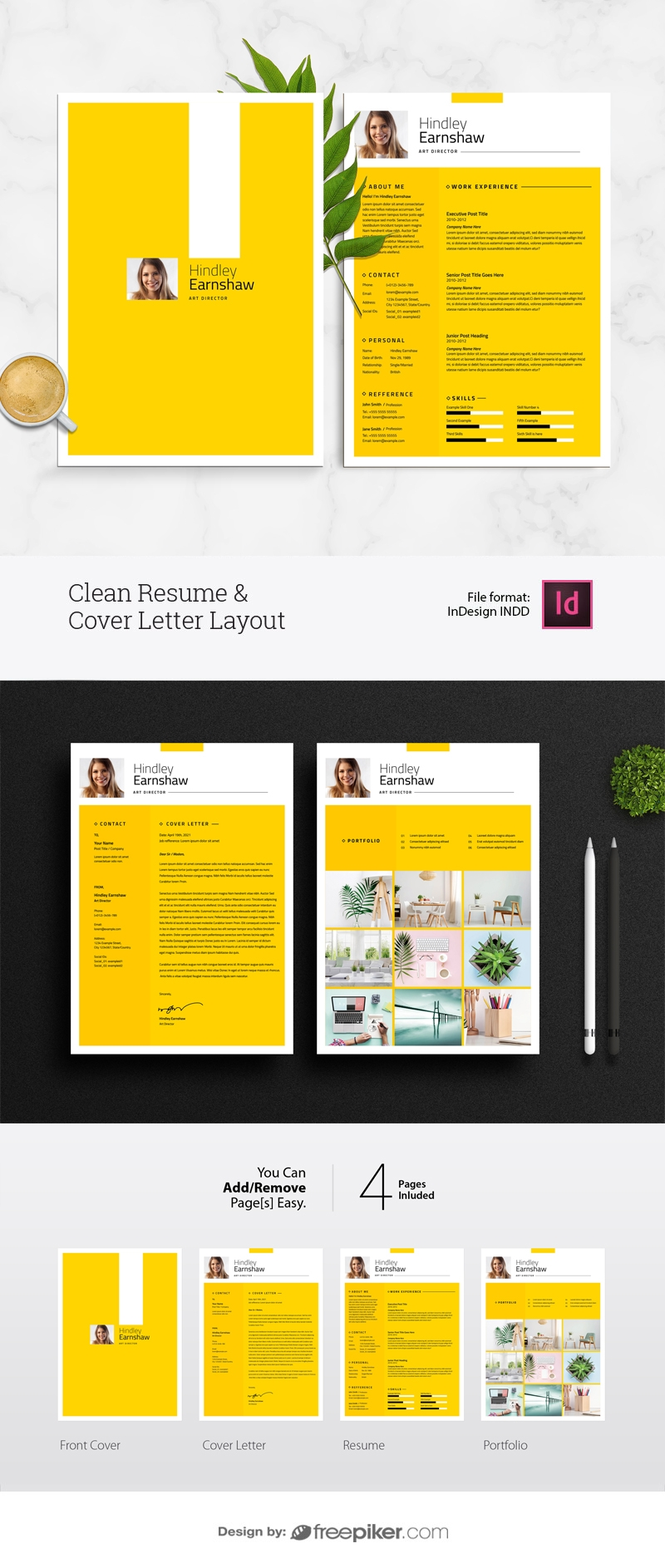 Clean Resume & Cover Letter Layout