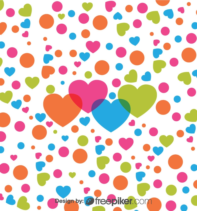 Colorful Love Vector