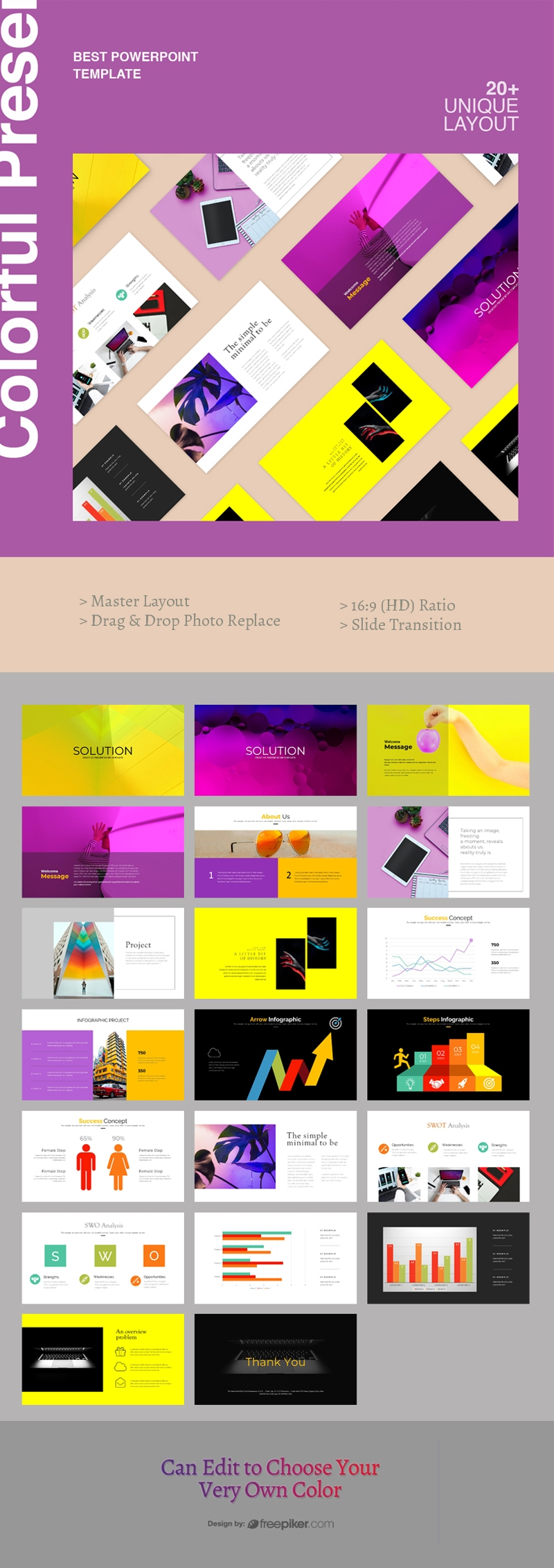 Colorful PowerPoint Prsentation Template