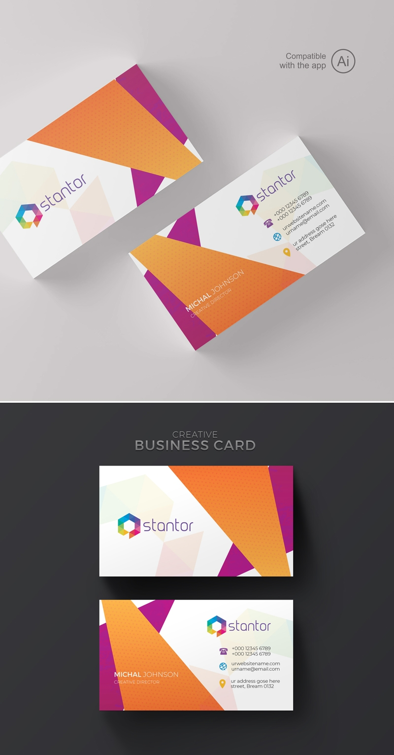 Colourful Abstract BusinessCard