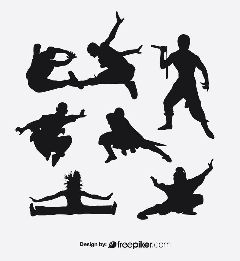 Combat Karate Illustration Vector