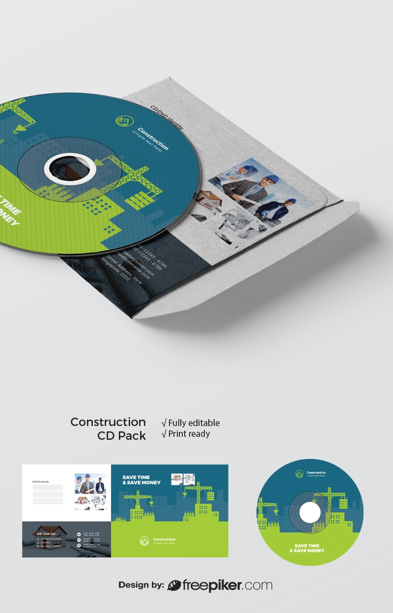 Construction CD Pack With Elements And Texture