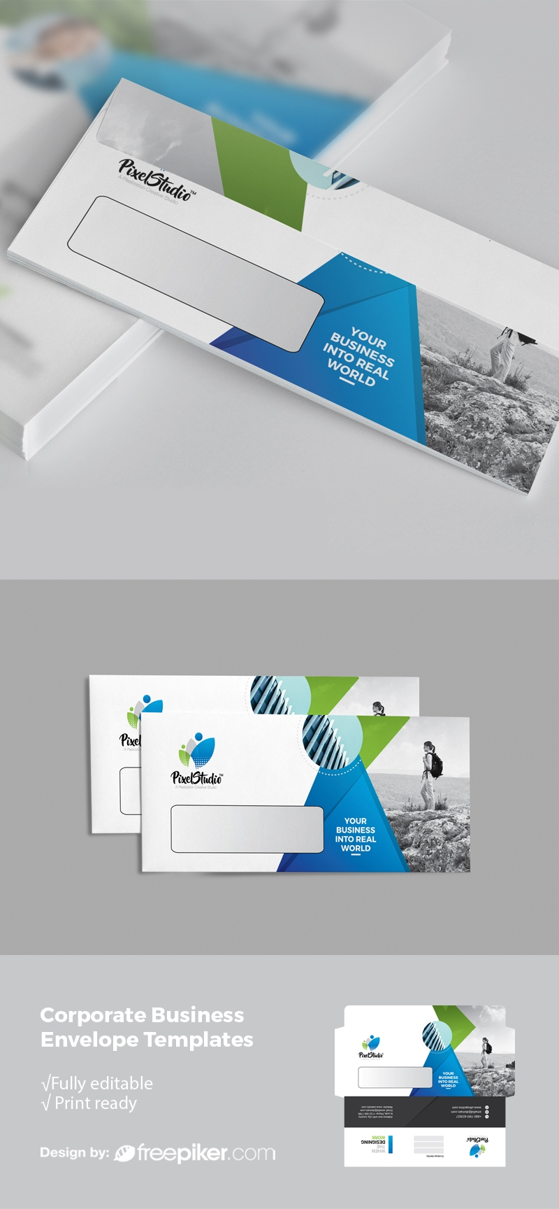 Corporate Business DL Envelope Commercial With Color