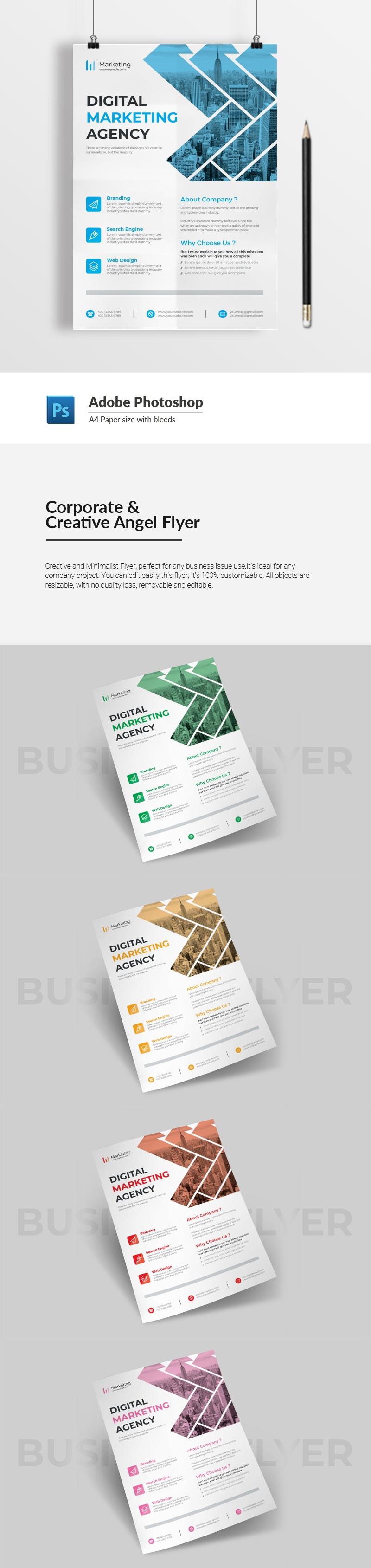 Corporate & Creative Angel Flyer