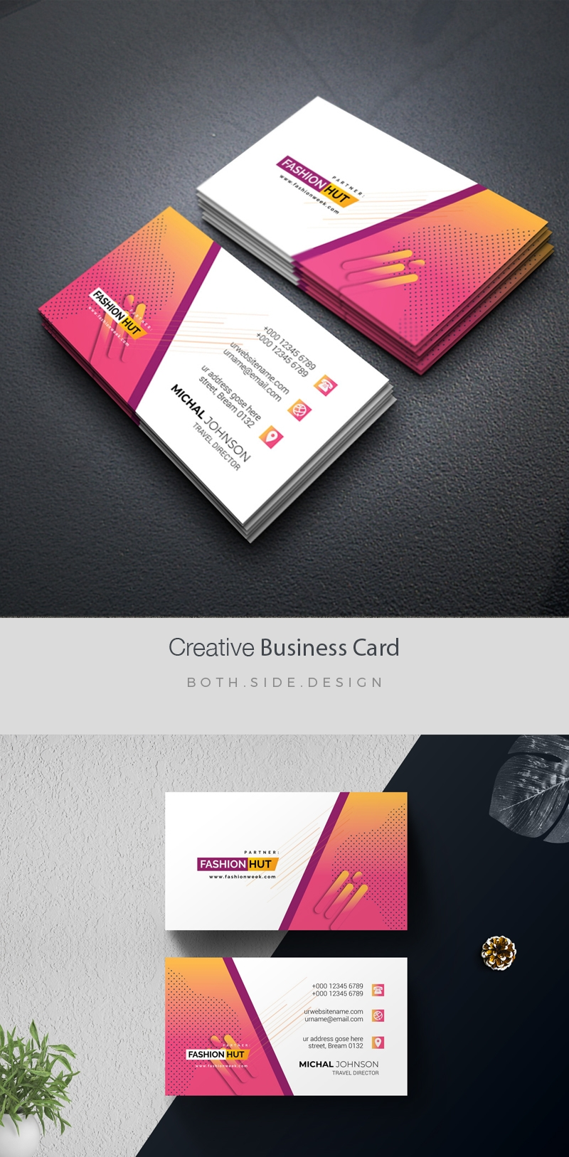 Creative BusinessCard With Colorful