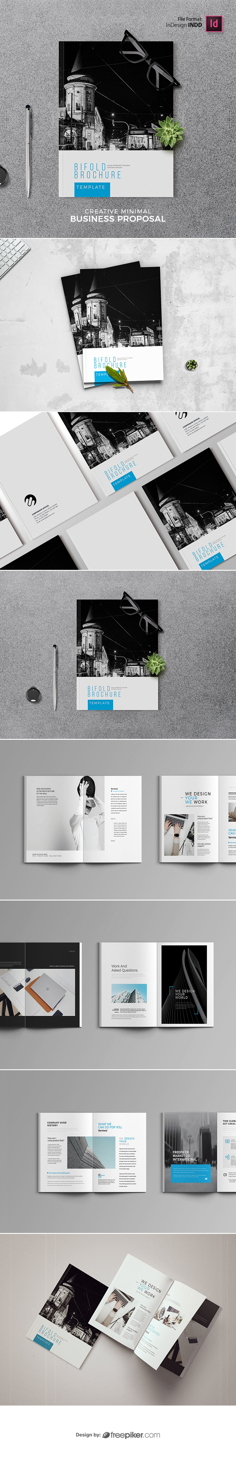 Creative Clean Bifold Brochure Template