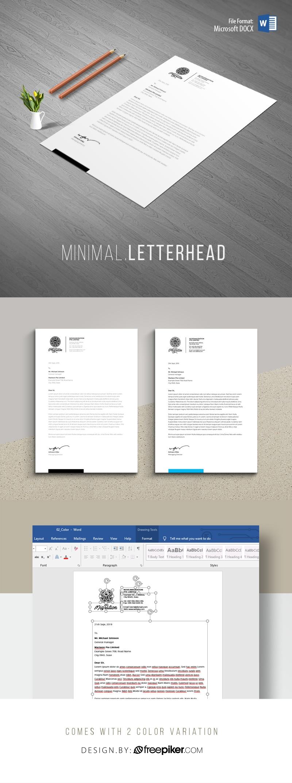 Creative Clean Word Letterhead Design