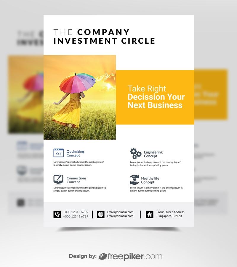 Creative Corporate Business Orange Flyer