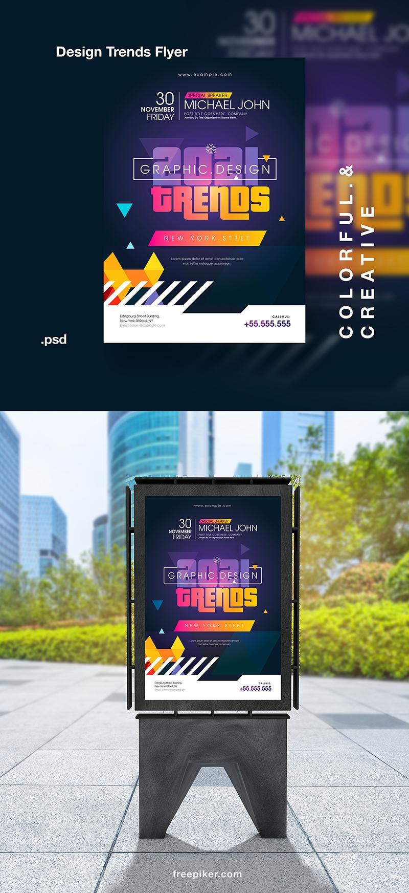 Creative Design Trends Event Flyer / Poster