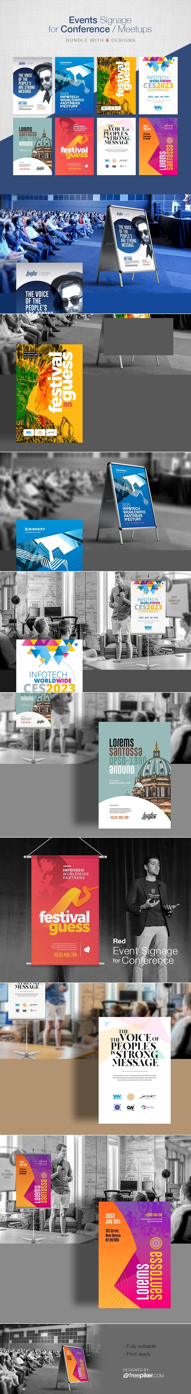 Creative Event Signage Bundle for Conference