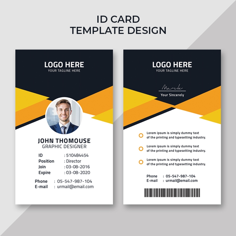 Creative Office ID Card Template